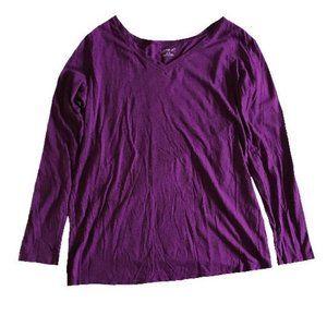 Motherhood Maternity Purple Longsleeve Tee Size M